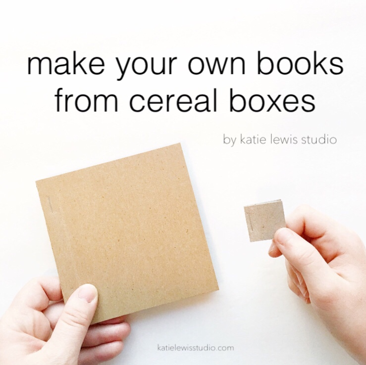 tutorial make your own books from cereal boxes katie lewis studio